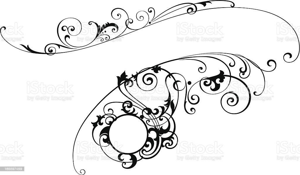 Decorativo desplazamiento ilustración de decorativo desplazamiento y más banco de imágenes de anticuado libre de derechos