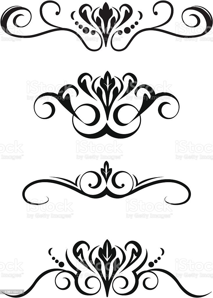 Decorative Scrolls vector art illustration