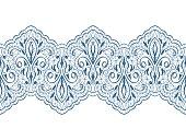 Decorative seamless lace pattern
