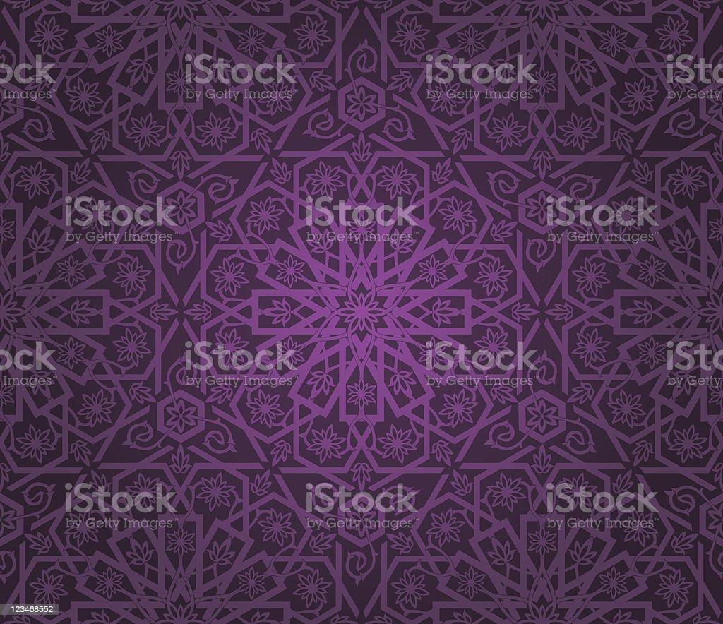 Decorative seamless pattern vector art illustration
