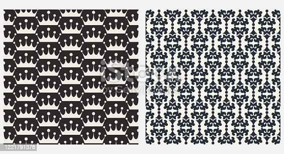 istock Decorative seamless pattern, wallpaper texture 1221791378