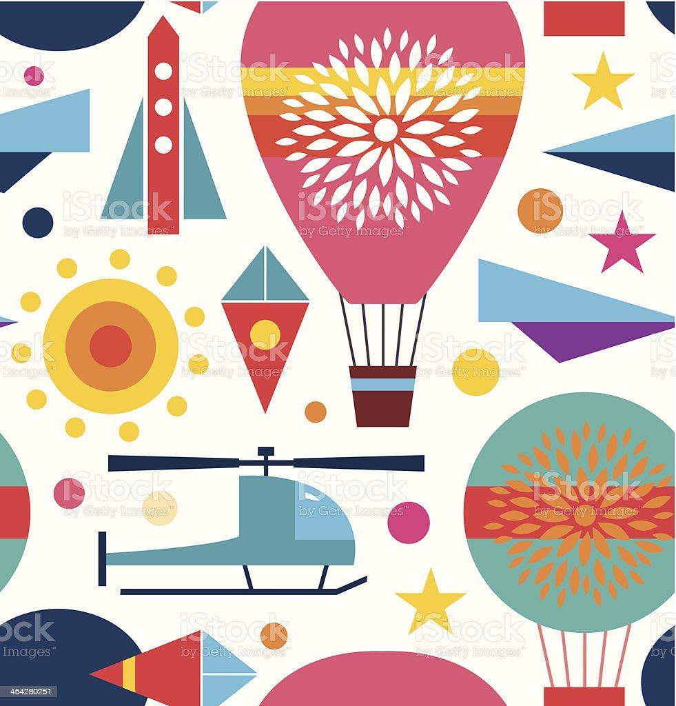Decorative seamless sky pattern royalty-free stock vector art