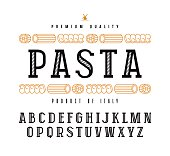 Decorative slab serif font in retro style