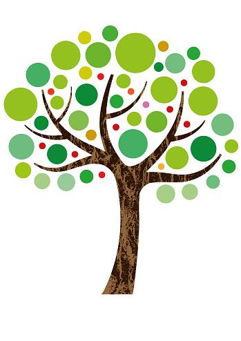 Decorative small tree illustration