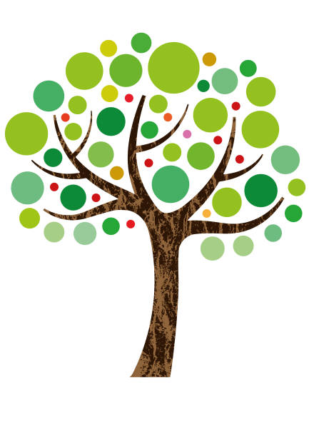 Decorative small tree illustration vector art illustration