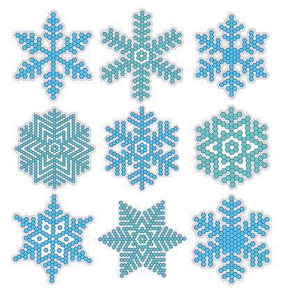 Decorative snowflake of rhombuses