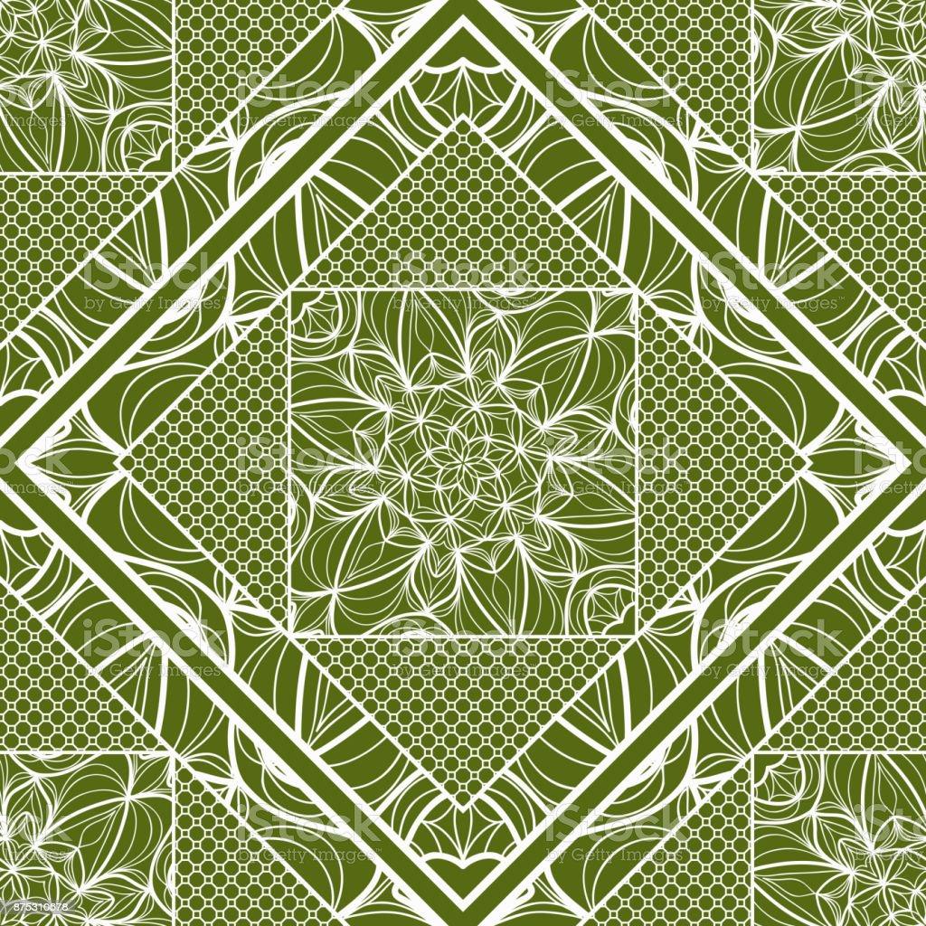le plus populaire Beau design aperçu de Fond Décoratif Carré Geometric Floral Seamless Pattern Avec ...