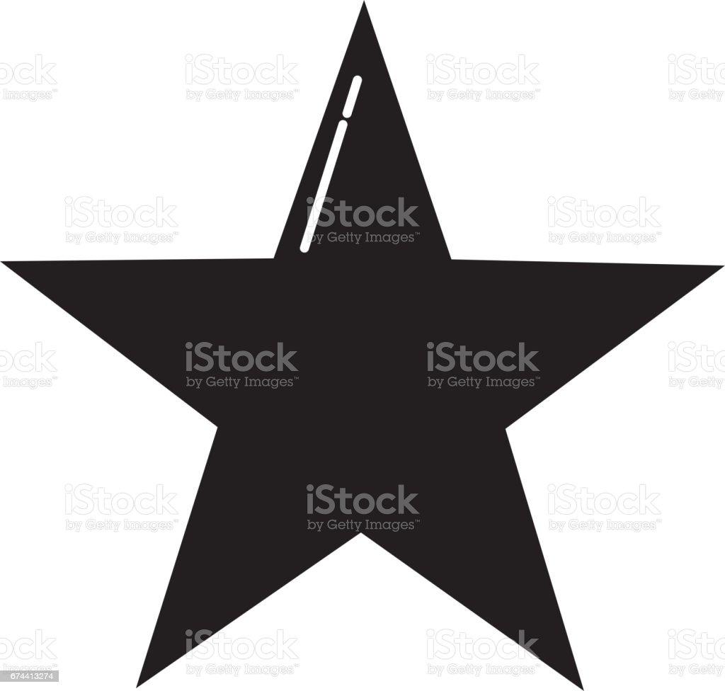 decorative star isolated icon vector art illustration