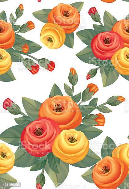 Decorative style roses bouquet seamless pattern vector id491469556?b=1&k=6&m=491469556&s=612x612&h=qvjxo037h5ocgelf8kx0 rml8slnb2qk5d3ttmzm42m=