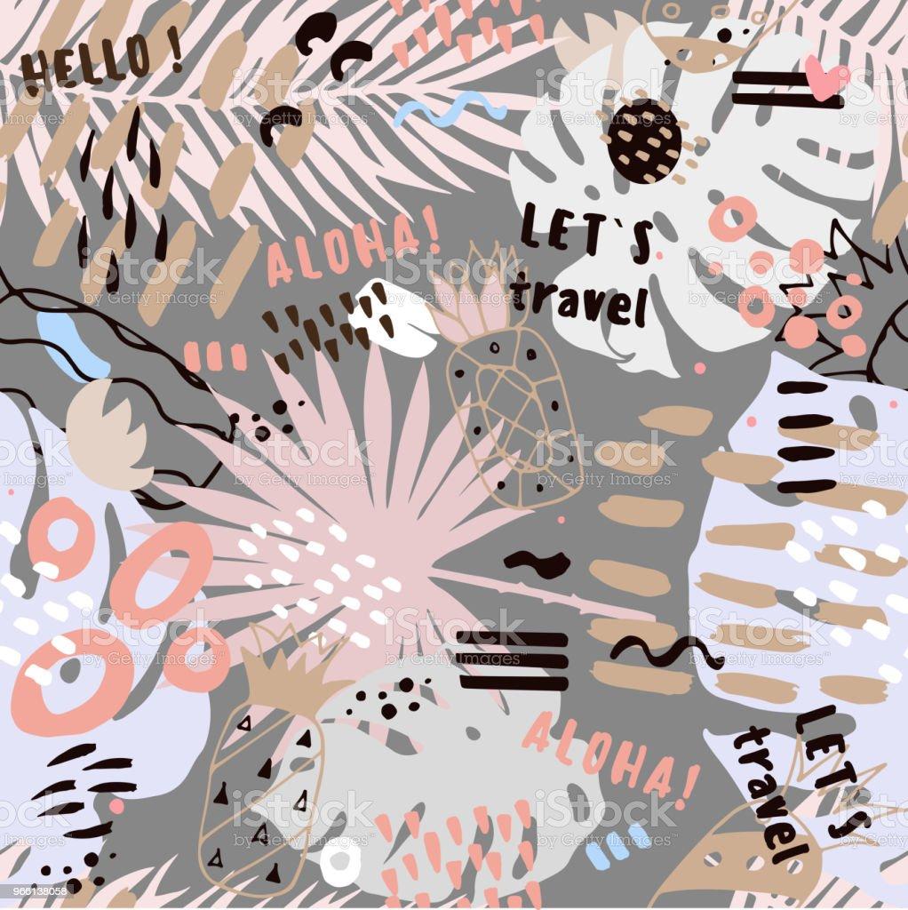 dekorativa sommaren abstrakta sömlösa mönster - Royaltyfri Abstrakt vektorgrafik