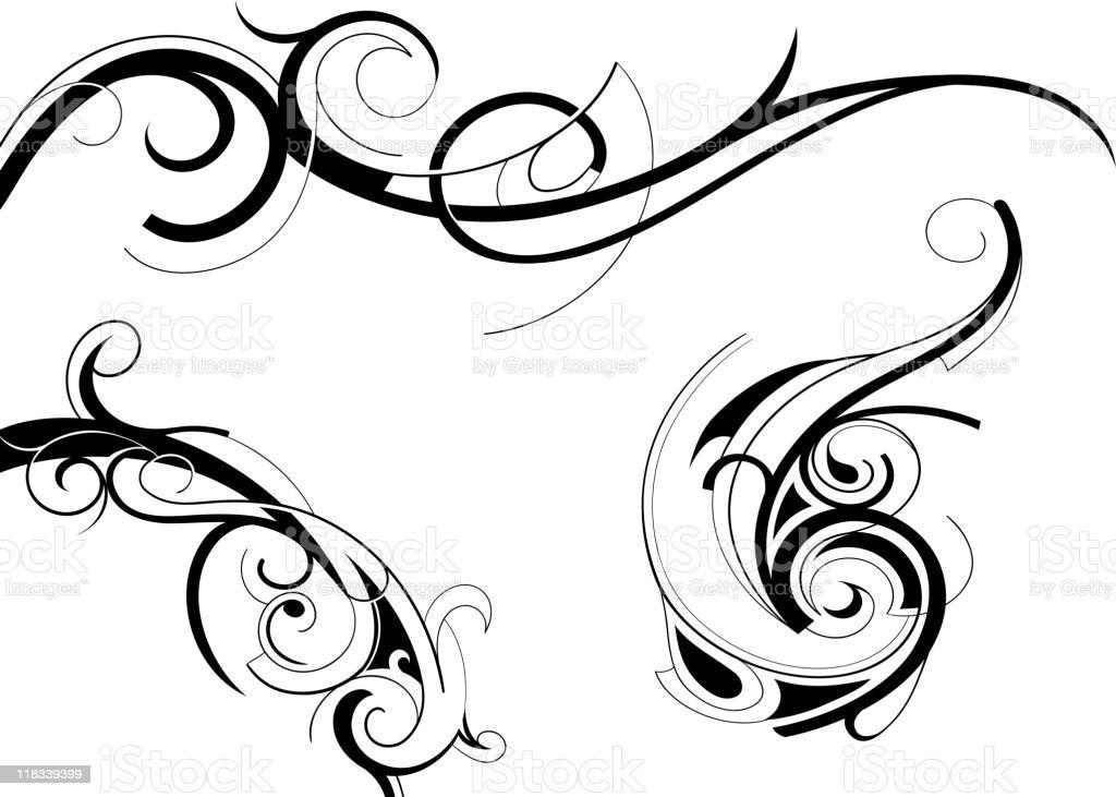 Decorative swirls royalty-free stock vector art