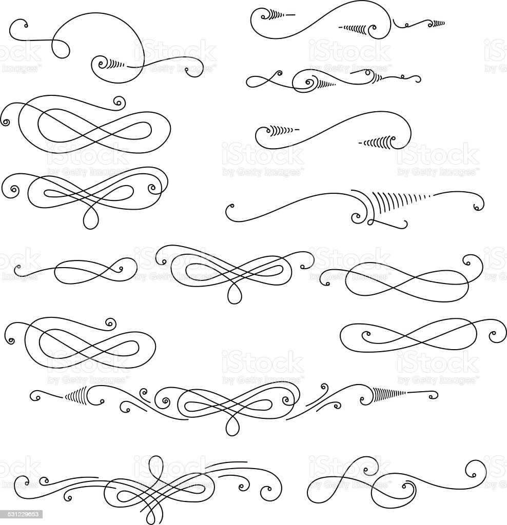 Tourbillons décoratifs - Illustration vectorielle