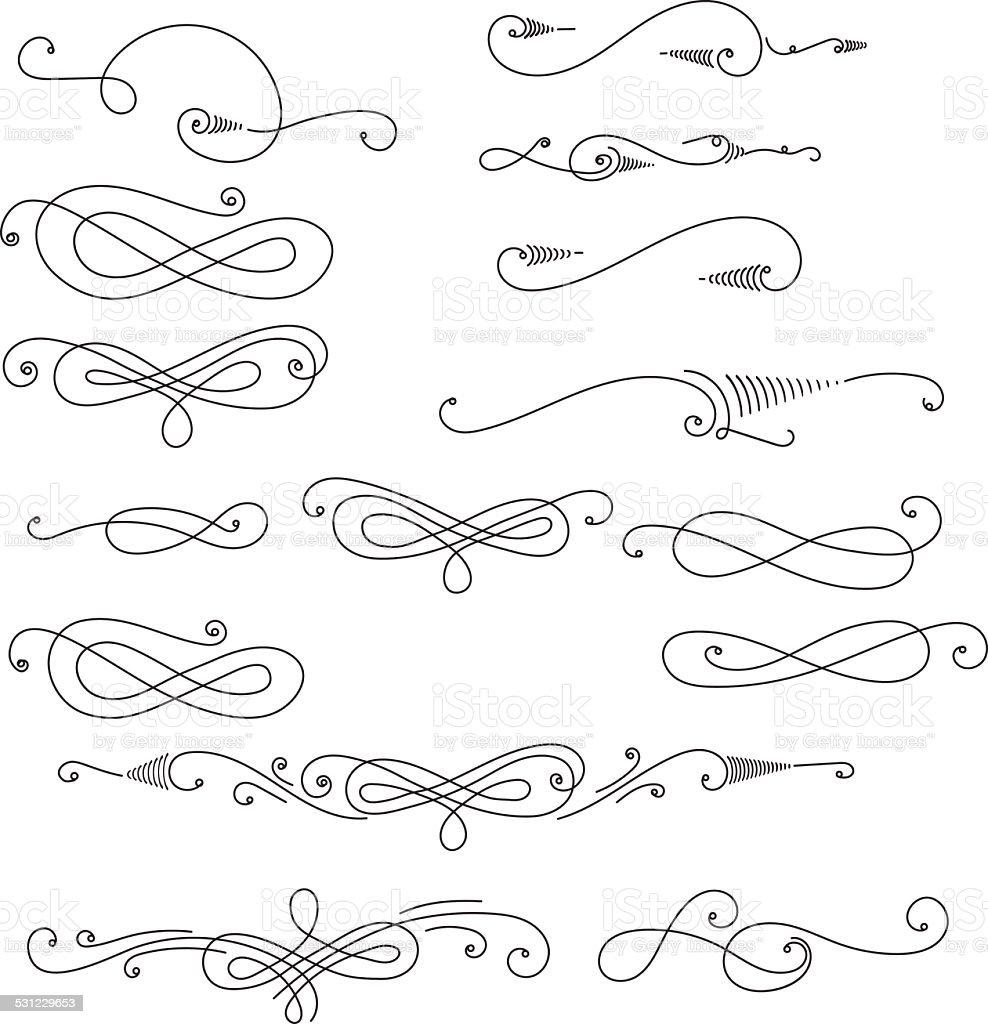 decorative swirls vector art illustration