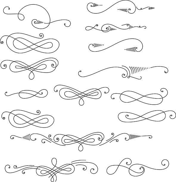 decorative swirls - gothic fashion stock illustrations, clip art, cartoons, & icons