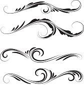 decorative swirls