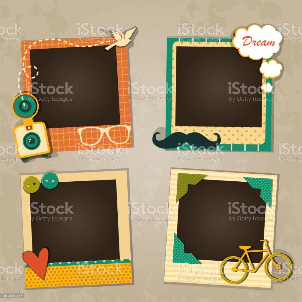 Decorative template frame vector art illustration