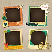 Decorative template frame