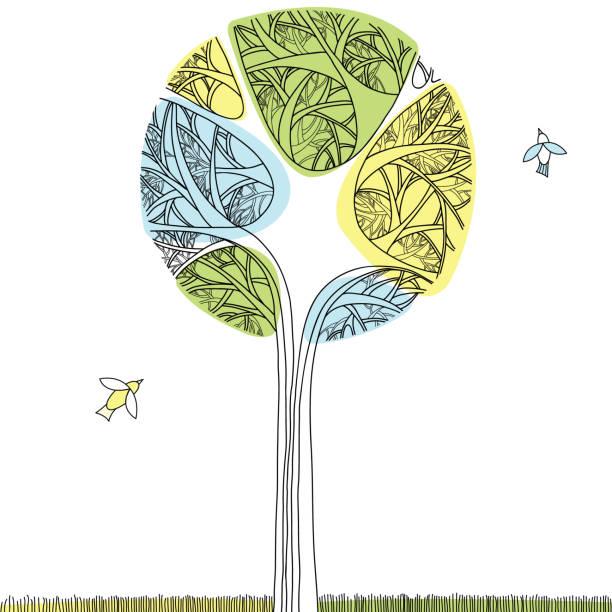 Árbol decorativo - ilustración de arte vectorial