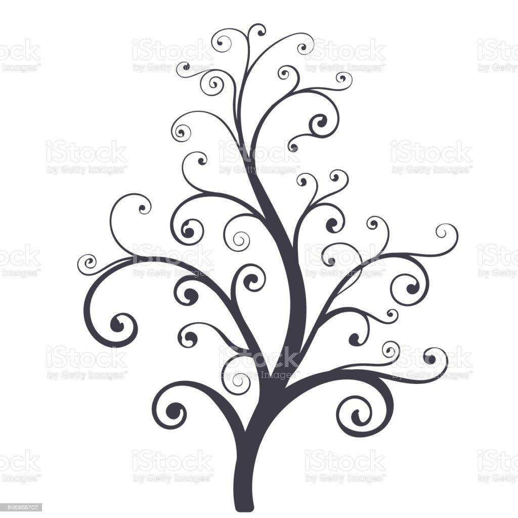 arbre décoratif – cliparts vectoriels et plus d'images de abstrait