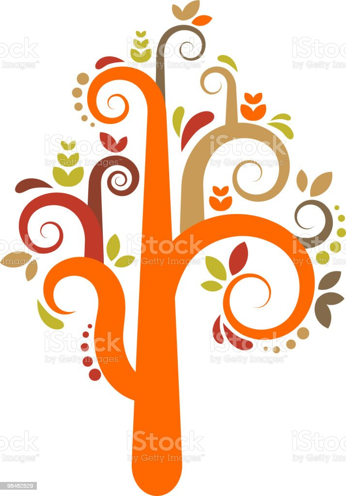 Decorative tree royalty-free decorative tree stock vector art & more images of branch - plant part