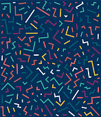 Decorative trendy seamless vector pattern illustration. Abstract background design with vibrant colors.