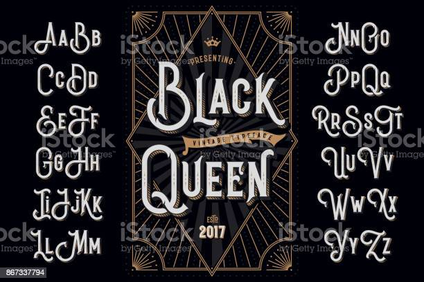 Decorative typeface named black queen with extruded lines effect and vector id867337794?b=1&k=6&m=867337794&s=612x612&h=jutiglutoclimpntsnmpsr vjgipfgioamch8gyfvck=