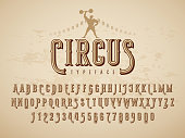 Decorative typeface on grunge texture background. Eps8. RGB. Global colors