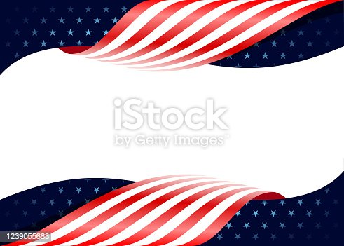 American flag fourth of July national day border design template