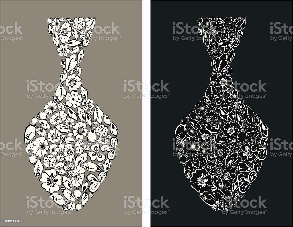 decorative vase royalty-free stock vector art