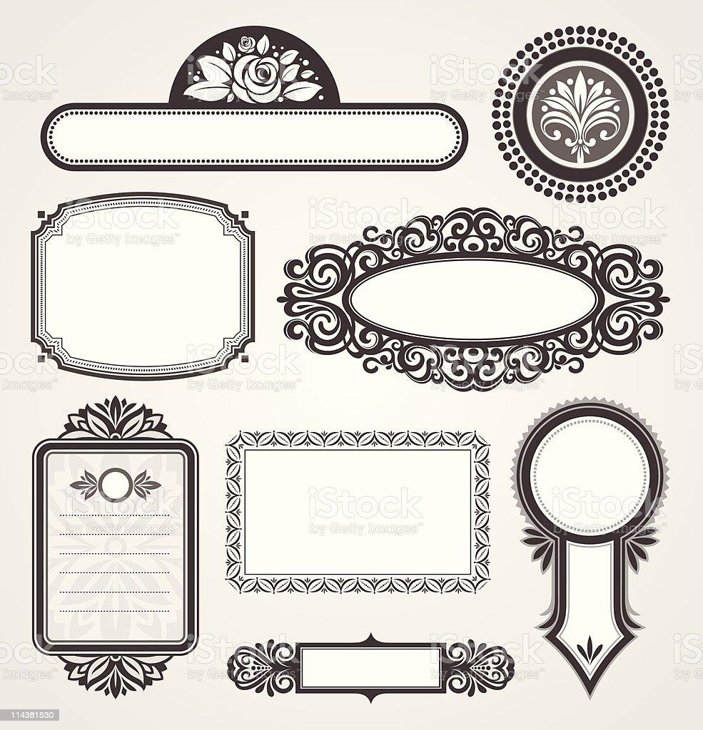 Decorative vector ornamental frames royalty-free stock vector art