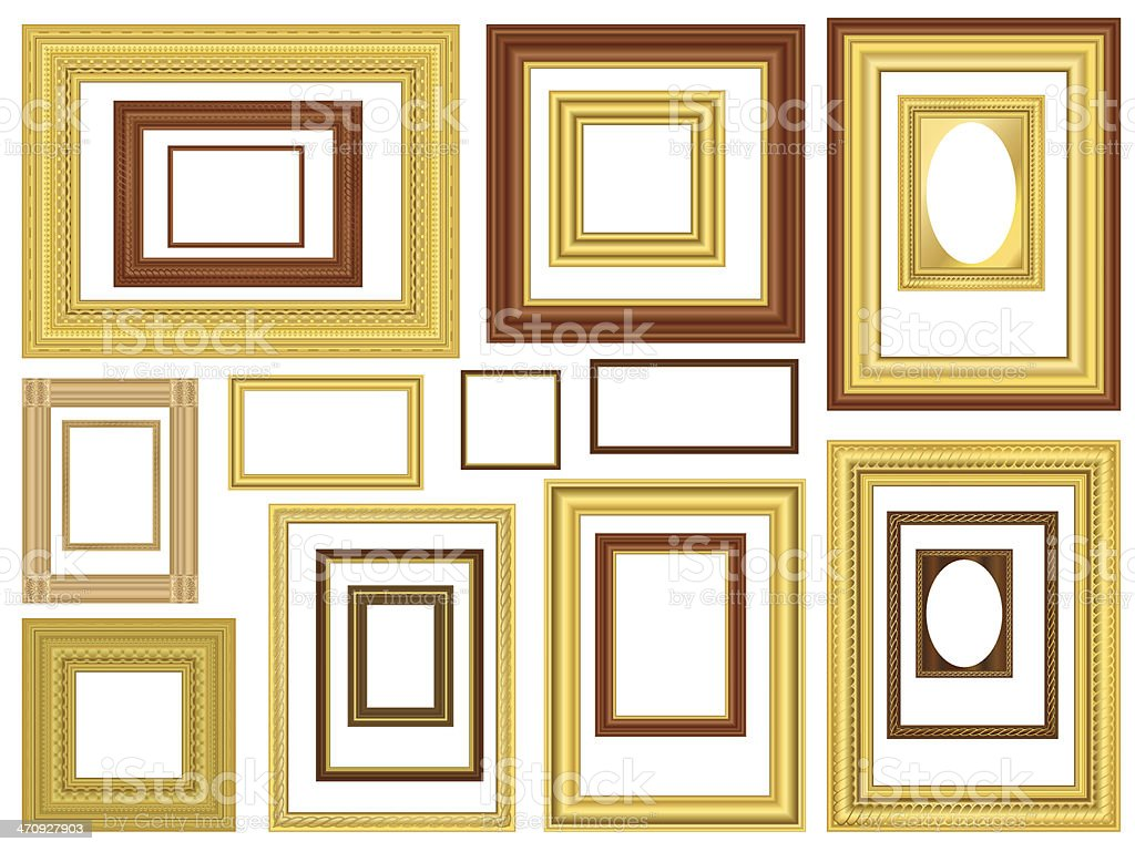 Decorative Vector Picture Frames vector art illustration