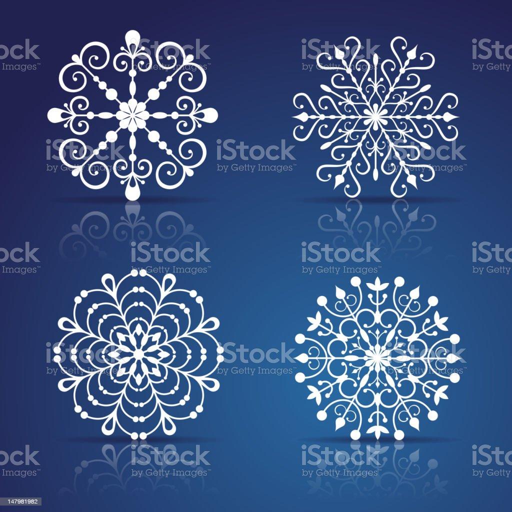 Decorative vector snowflakes set royalty-free stock vector art