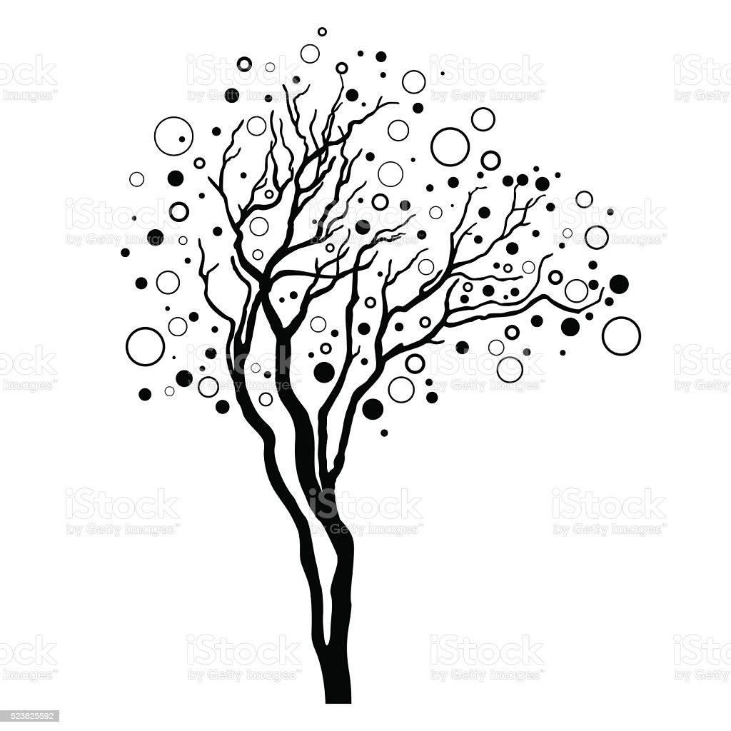 vecteur arbre décoratif stock vecteur libres de droits 523825592