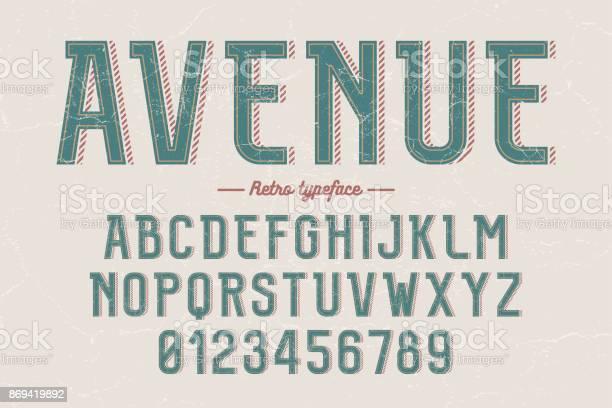 Decorative vector vintage retro typeface font alphabet letters vector id869419892?b=1&k=6&m=869419892&s=612x612&h=cujidwzwq6xqrlhzkgi8bnphcbsganjajd 5sg017ku=