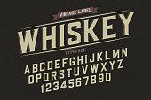 Decorative vector vintage retro typeface, font, alphabet letters. Color swatches control