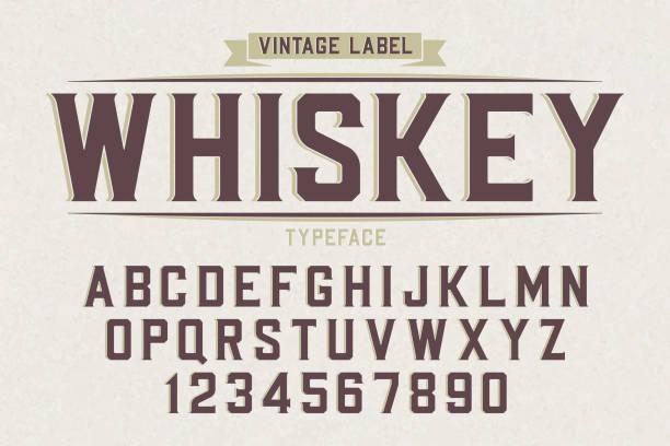 Decorative vector vintage retro typeface, font, alphabet letters vector art illustration