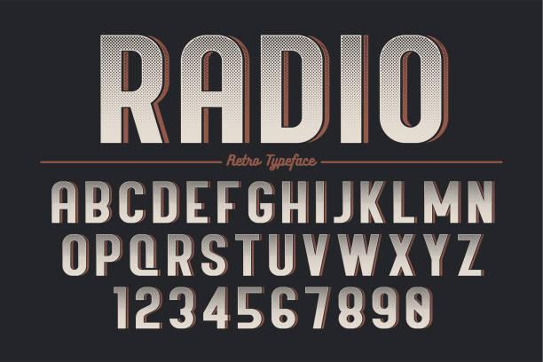 dekorative vektor vintage retro-schrift, schrift, schrift - posterstile stock-grafiken, -clipart, -cartoons und -symbole