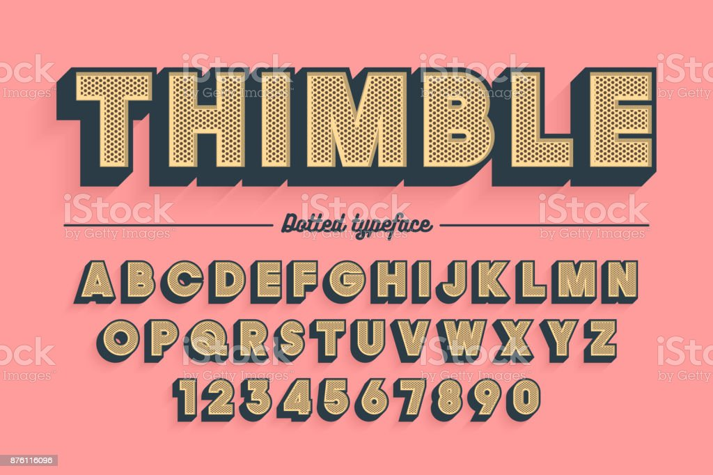Decorative vector vintage retro typeface, font, typeface vector art illustration