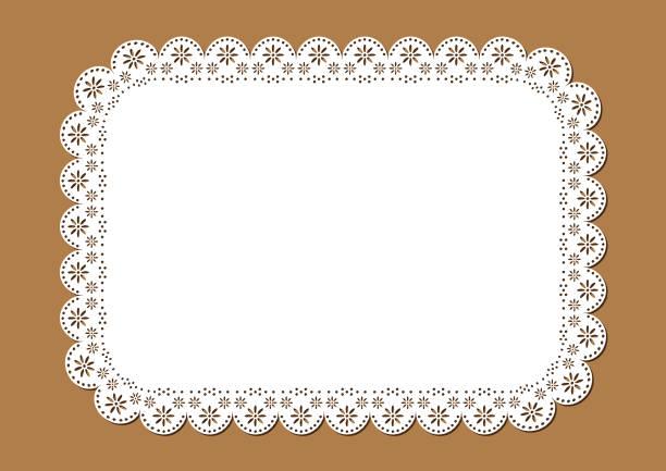 装飾的なヴィンテージのドイリーやプレイス マット設計 - ランチョンマット点のイラスト素材/クリップアート素材/マンガ素材/アイコン素材