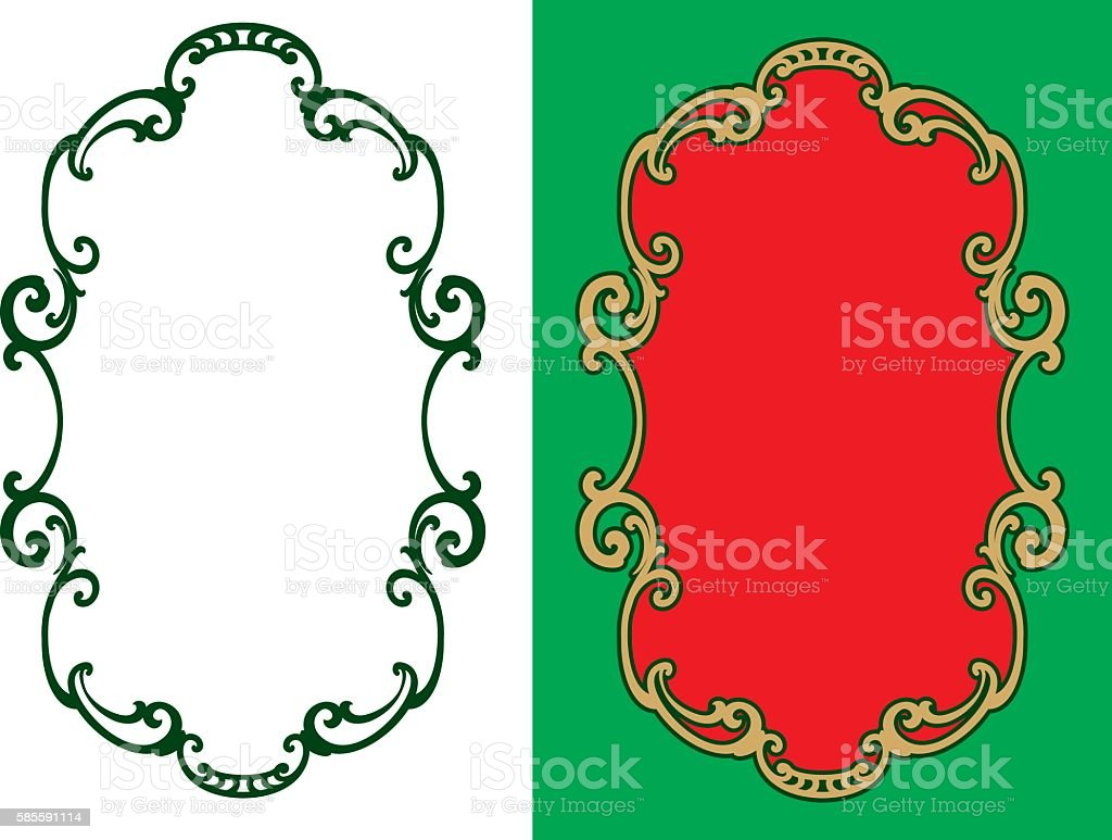 Decorative vintage frame. Design element. Decoration. vector art illustration