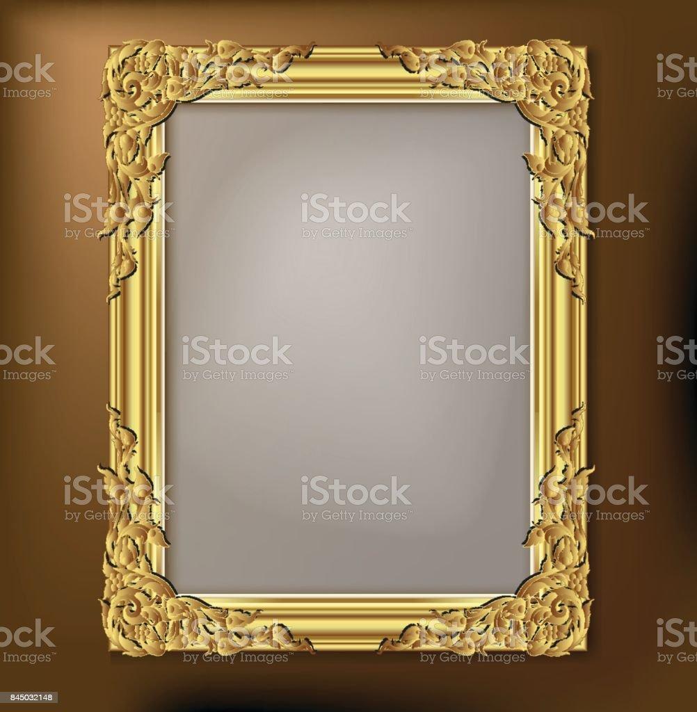 Dekorative Vintage Rahmen Und Grenzen Gesetzt Gold Bilderrahmen Mit ...