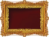 Decorative vintage frames and borders set,Gold photo frame with corner thailand line floral for picture, Vector design decoration pattern style. border design is pattern Thai style