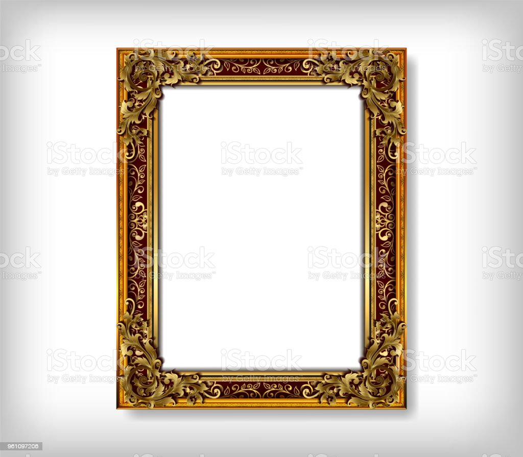 decorative vintage frames and borders setgold photo frame with