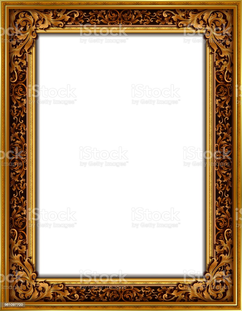 Decorative Vintage Frames And Borders Setgold Photo Frame With ...