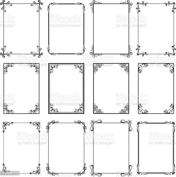 Decorative vintage frames vector black borders isolated on white vector id659988172?b=1&k=6&m=659988172&s=612x612&h=j9fsuhbowytplvaiqqhm3cfiqhmeivimnhtcshfb8le=