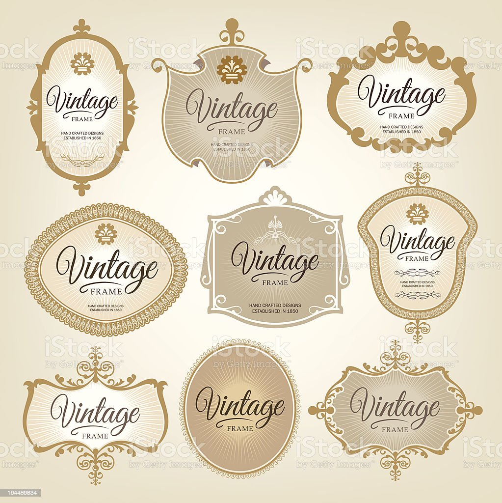 Decorative vintage labels royalty-free decorative vintage labels stock vector art & more images of antique