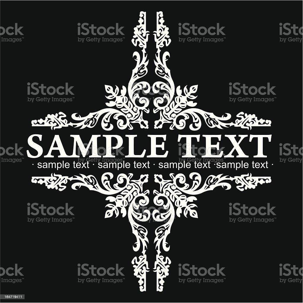 Decorative Vintage Ornate Banner. royalty-free decorative vintage ornate banner stock vector art & more images of antique
