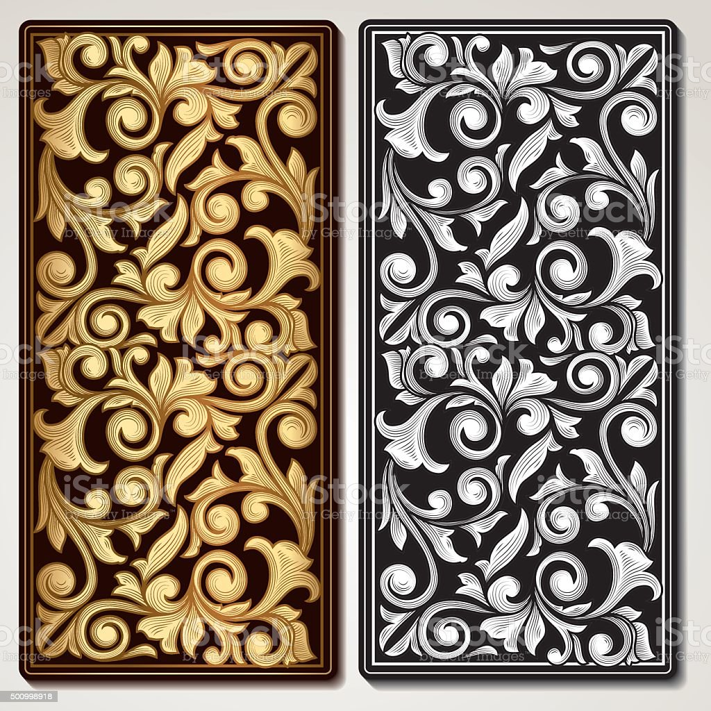 Decorative vintage panel vector art illustration