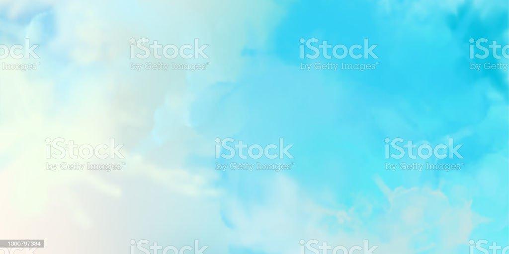 装飾的な水彩画の背景 ベクターアートイラスト