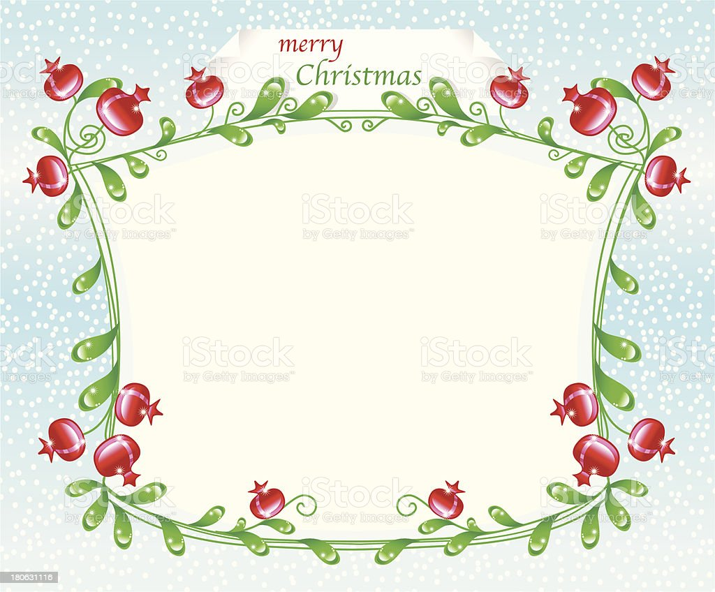 Dekorative winterborder mit rosehips. – Vektorgrafik